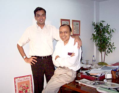 Milind and Murli Deora.