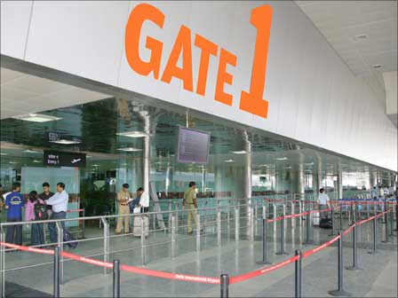 Gate number 1 of the international terminal.
