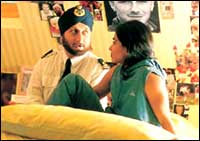 Anupam Kher and Parminder Nagra in Bend It Like Beckham