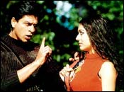 Shah Rukh Khan and Amrita Rao