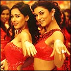 Amrita Rao and Sushmita Sen