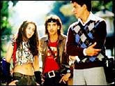 Amrita Rao, Zayed Khan and Shah Rukh Khan