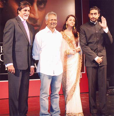Images from the Guru press event in Mumbai, featuring Amitabh and Abhishek Bachchan, Aishwarya Rai, Mani Ratnam, AR Rahman and Gulzar.
