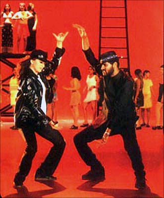 Madhuri Dixit and Prabhu Deva in Pukar