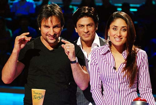 Saif Ali Khan, Shah Rukh Khan and Kareena Kapoor