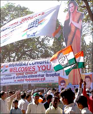 A Congress rally in Mumbai