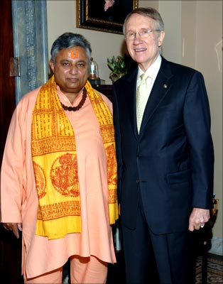Priest with Senate Majority Leader