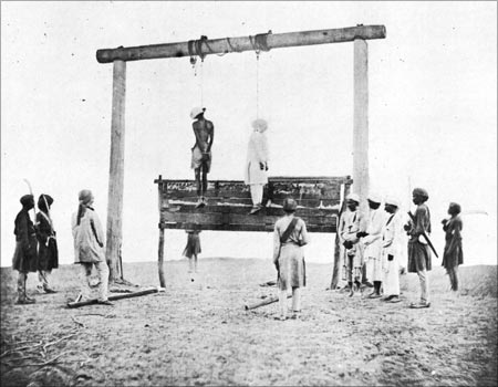 The Hanging of Two Rebels, by Felice Beato, 1858.